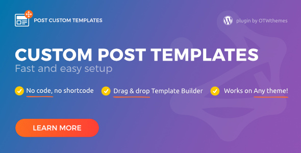 Post Custom Templates Pro - WordPress plugin Download