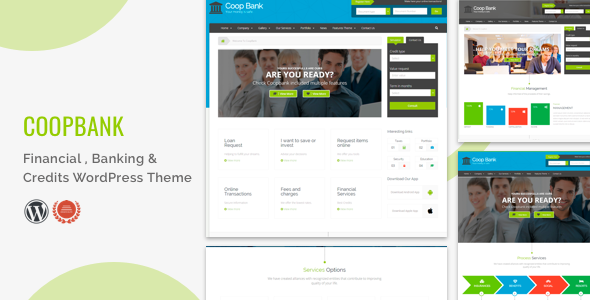 Financial , Banking & Credits WordPress Theme  | CoopBank