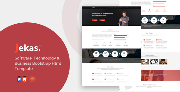 Software, Technology & Business Bootstrap Html Template - Jekas