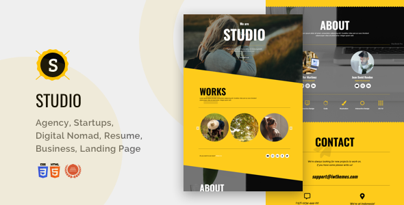 Studio - Portfolio, Creative, Corporate, Business Landing Page
