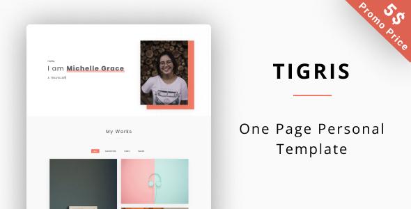 Tigris - Personal Portfolio Template