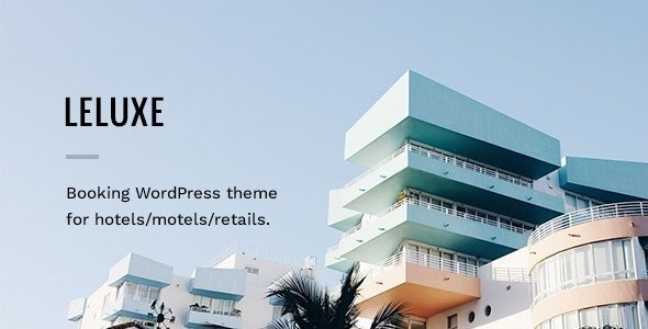 LeLuxe - Hotel WordPress Theme
