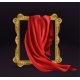 Red Silk Cloth Cover Wooden Photo Frame Isolated - GraphicRiver Item for Sale