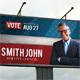Political Election Outdoor Banner V2 - GraphicRiver Item for Sale