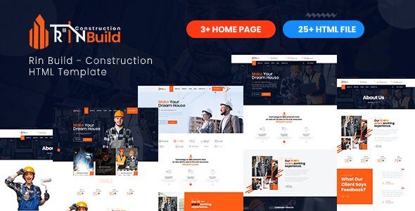 Rin Build - Construction Building Company HTML Template