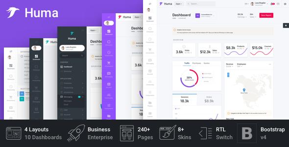 Huma - Bootstrap Business Admin Template