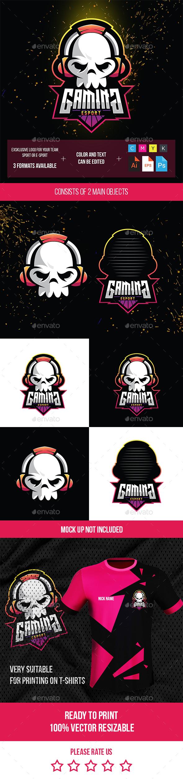 Skull Logo for Games