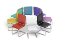 Colorful office chairs - PhotoDune Item for Sale