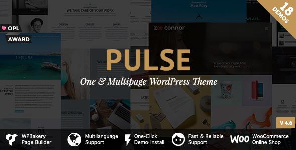 Pulse - Premier WordPress Theme