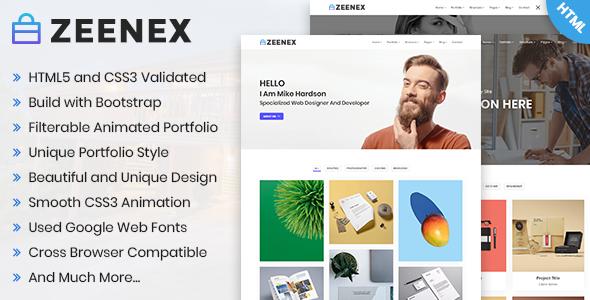 Zeenex - Minimal Portfolio HTML Template