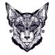Ornamental Cat or Lynx Portrait - GraphicRiver Item for Sale