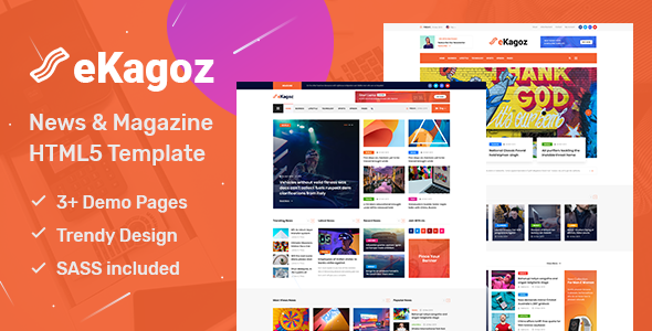 eKagoz - Blog, News & Magazine HTML5 Template