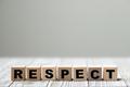 Respect word written on wood block - PhotoDune Item for Sale