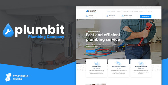 Plumbit - Plumbing WordPress Theme