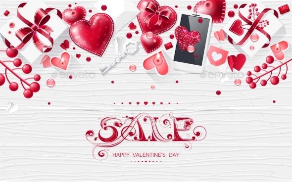 Valentine Day Love Lettering Web Brochure Flyer
