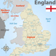 Map of England with Districts - GraphicRiver Item for Sale