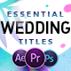 Essential Wedding Titles - VideoHive Item for Sale