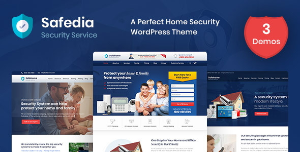 Safedia- Home Security WordPress Theme