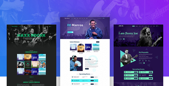 Musiziya - Musician Band WordPress Theme