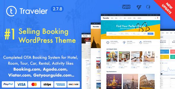 Travel Booking WordPress Theme