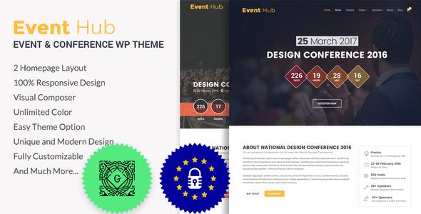 Event Hub- Event, Conference WordPress Theme