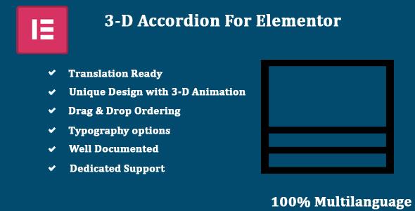 Three-D Accordion for Elementor