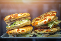 Chicken focaccia sandwiches in a cafe - PhotoDune Item for Sale