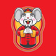 Happy Mouse Greetings in Chinese Costume - GraphicRiver Item for Sale