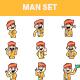 Indian Pandit Sticker Set - GraphicRiver Item for Sale