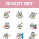 Robot Sticker Set - GraphicRiver Item for Sale