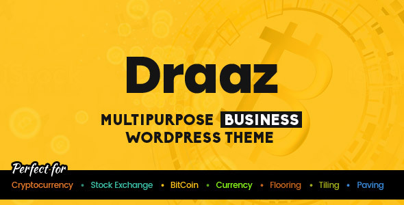 Draaz - Cryptocurrency and Flooring Multipurpose Business WordPress Theme