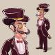 Classy Vintage Mustache Man - GraphicRiver Item for Sale