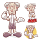 Grandpa Mascot Cartoon - GraphicRiver Item for Sale