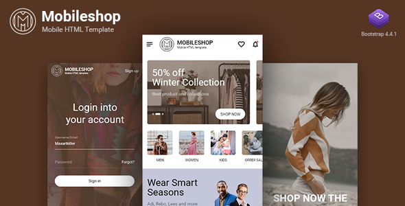 Mobileshop Multipurpose Mobile HTML template