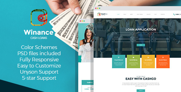 Winance – Financial Company WordPress Theme