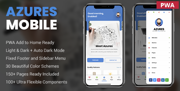 Azures | Mobile Template & PWA