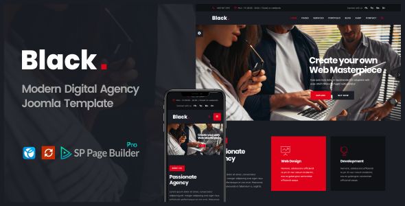 Black  -   Modern Digital Agency Business Joomla Theme