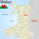 Map of Wales with Districts - GraphicRiver Item for Sale
