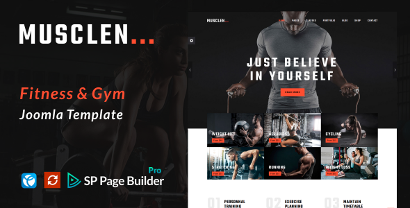 Musclen  – Fitness and Gym Joomla Template