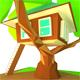 Tree House_3D Low Poly Modeling - 3DOcean Item for Sale