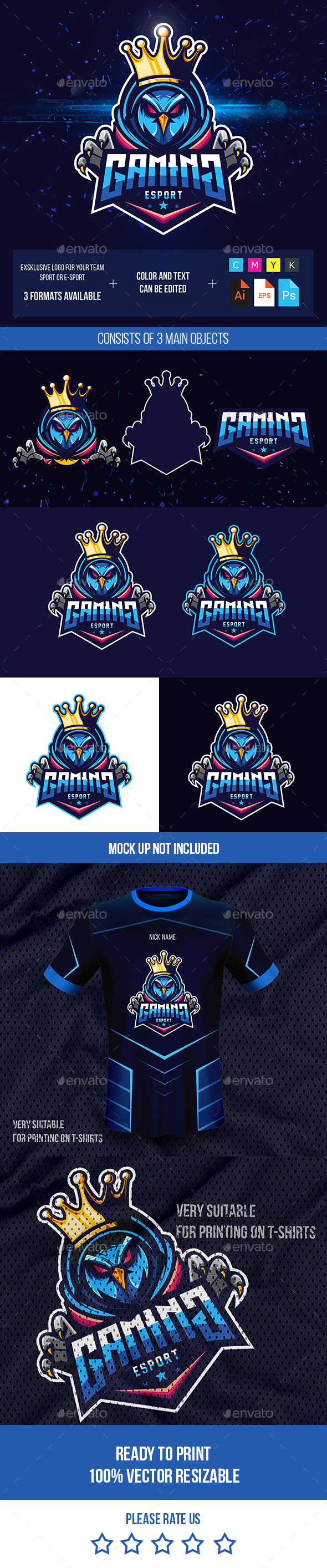 Owl Logo Esport for Gaming