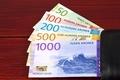 Norwegian money - Krone in the black wallet - PhotoDune Item for Sale