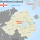 Map of Northern Ireland with Districts - GraphicRiver Item for Sale