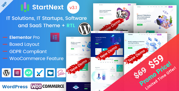 StartNext - IT & Business Startups WordPress Theme