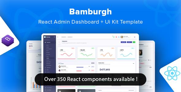 Bamburgh - React Bootstrap Admin Dashboard & UI Kit Template