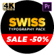 Swiss Typography Pack - for Premiere Pro | Essential Graphics