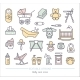 Baby Care Line Icons with Editable Stroke - GraphicRiver Item for Sale