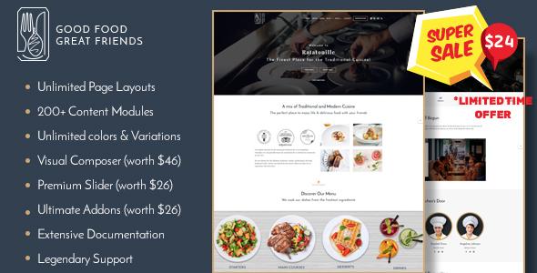 Restaurant WordPress Theme | Ratatouille