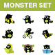 Monster Stickers - GraphicRiver Item for Sale