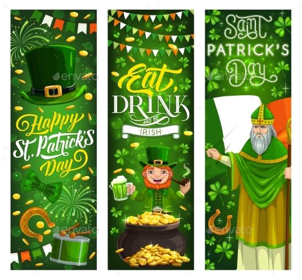 St Patrick Day Leprechaun and Irish Paddy Man